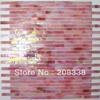 Pink Color GLASS MOSAIC TILE TIFFANY BATHROOM KITCHEN BACK SPLASH WALL Wall Flooring Mosaic Tiles