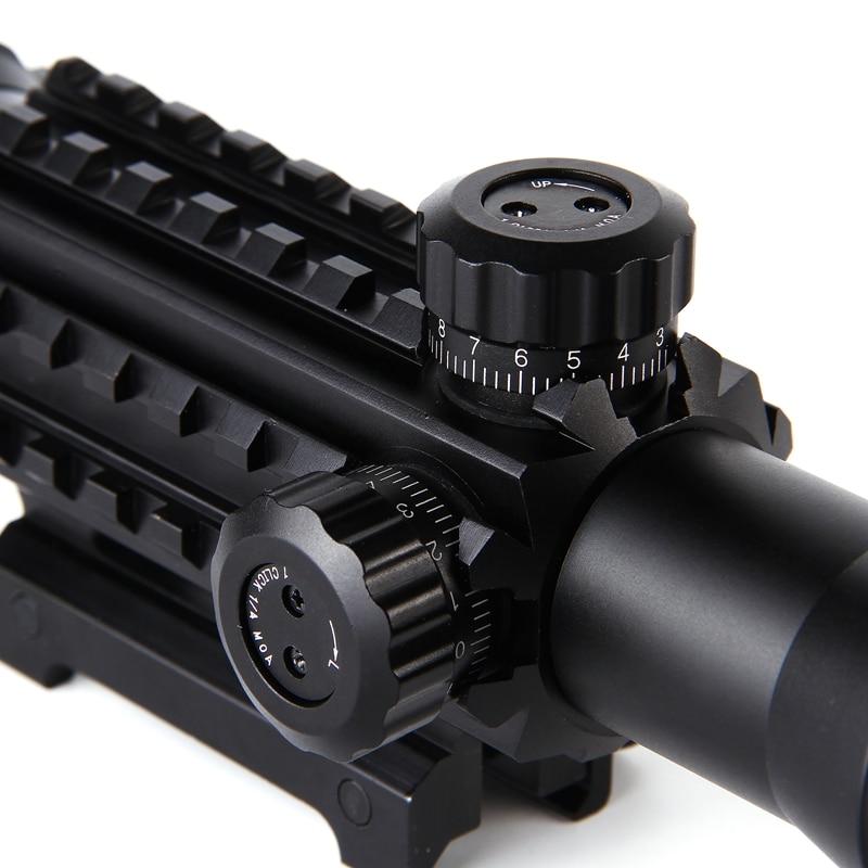 Fusha e pushkës optike 4-12X50 Taktike Optike e Gjelbër e Kuqe - Gjuetia - Foto 4
