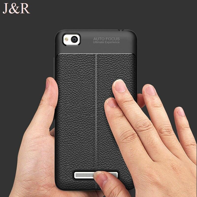 J & R чехол для Xiaomi Redmi 4A Мягкая обложка для xiomi Redmi 4A 5.0 защитный Телефон Назад В виде ракушки роскошные Чехол ультра тонкая кожа модные