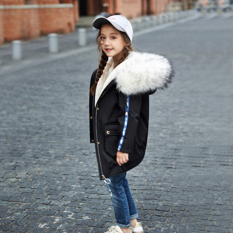 New 2017 Baby Winter Coat Kids Thicken Jackets Girls Down Jackets Children Big Fur Collar Coat Toddler Warm Coat,3-10Y,#2425 2016 winter new soft bottom solid color baby shoes for little boys and girls plus velvet warm baby toddler shoes free shipping