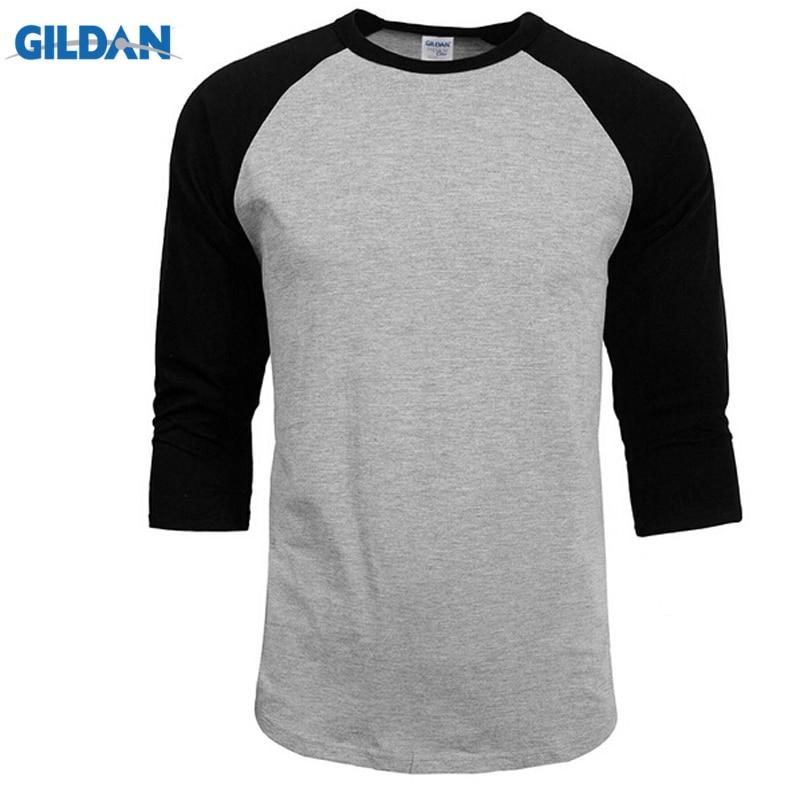 2019 New Fashion T Shirt Men Design O-Neck T-shirt Men's Casual 100% Cotton 3/4 Sleeve Tshirt Hot Sale Raglan Jersey Shirt Man