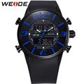 Hot!2016 New WEIDE Unique Design Fashion Men Sports Full Steel Watches Men's Quartz Military Army Diver Full Steel Watch