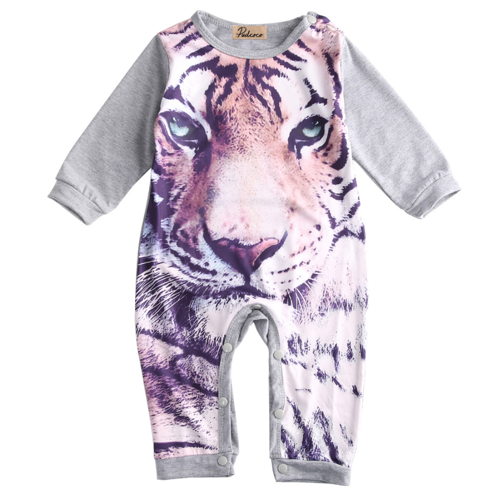 Cute Newborn Baby Romper Clothes Infant Toddler Girls Boys Playsuit Romper Tiger Aminal Jumpsuit Climbing Clothes 4pcs set baby girls clothing newborn baby clothes christmas infant jumpsuit clothes xmas bebe suits toddler romper tutu dresses