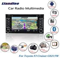 Liandlee для Toyota FJ Cruiser GSJ15W 2017 ~ 2006 Android автомобильный Радио CD DVD плеер gps Navi навигации карты камера OBD ТВ HD экран