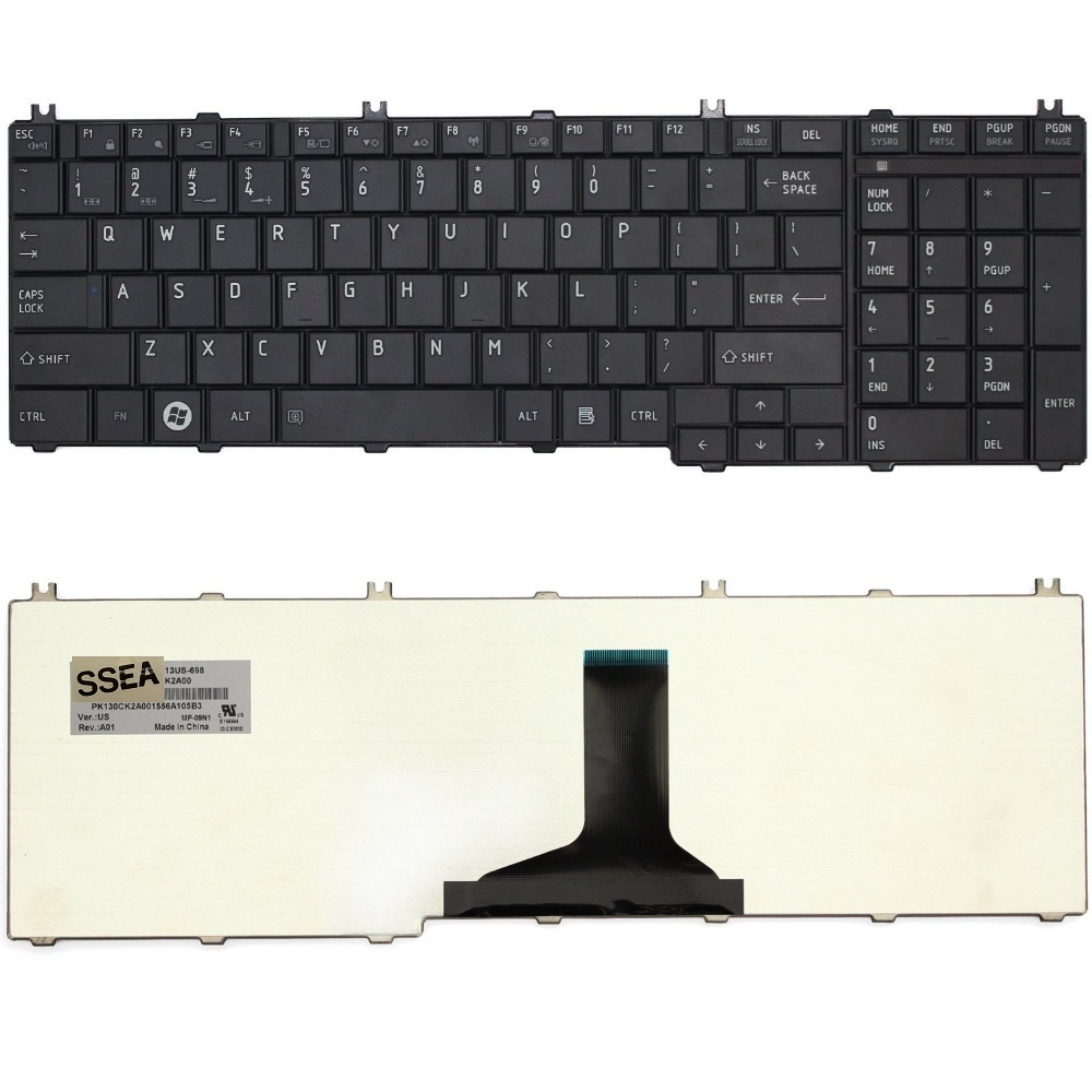 SSEA New US keyboard For Toshiba Satellite C650 C650D C655 L650 L650D L655 L670 L675 Pro C650 C655 C660 C665 L650 L655 L670 for toshiba satellite c655 s5128