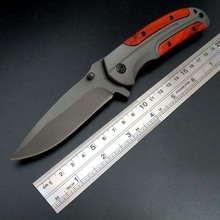 Hot sale Folding Blade Knife DA43 Steel Blade Red Wooden Handle Outdoor Camping Knives Survival Tactical Tools
