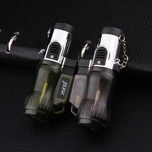 Image 4 - Three Nozzles Fire Torch Turbo Lighter Spray Gun Jet Butane Pipe Lighter Gas Cigarette 1300 C Fire Windproof Cigar Lighter