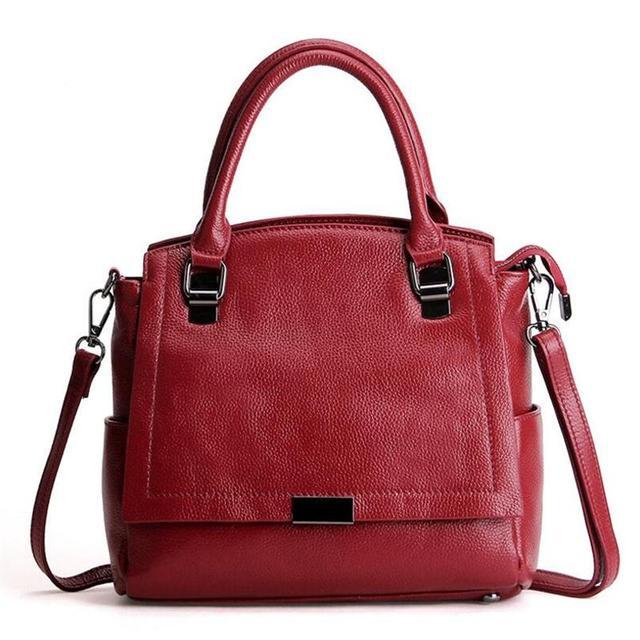 Women Cowhide Tote Genuine Leather Handbag Women Bag Fashion Vintage Large Female Tote Designer Crossbody Bags Big Shoulder Bag