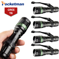 5pcs LED Flashlight 3000 Lumens 5 Modes Zoomable CREE XM-L T6 Torch Zoom Lamp Light With Hand Strap Flashlight Cree