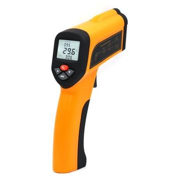 High temperature infrared thermometer, 1300 degrees, 1600 degrees, 1850 degrees, industrial grade kiln forging temperature gun фото