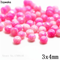 Isywaka 3X4mm 30,000pcs Rondelle Austria faceted Crystal Glass Beads Loose Spacer Round Beads for Jewelry Making NO.01A
