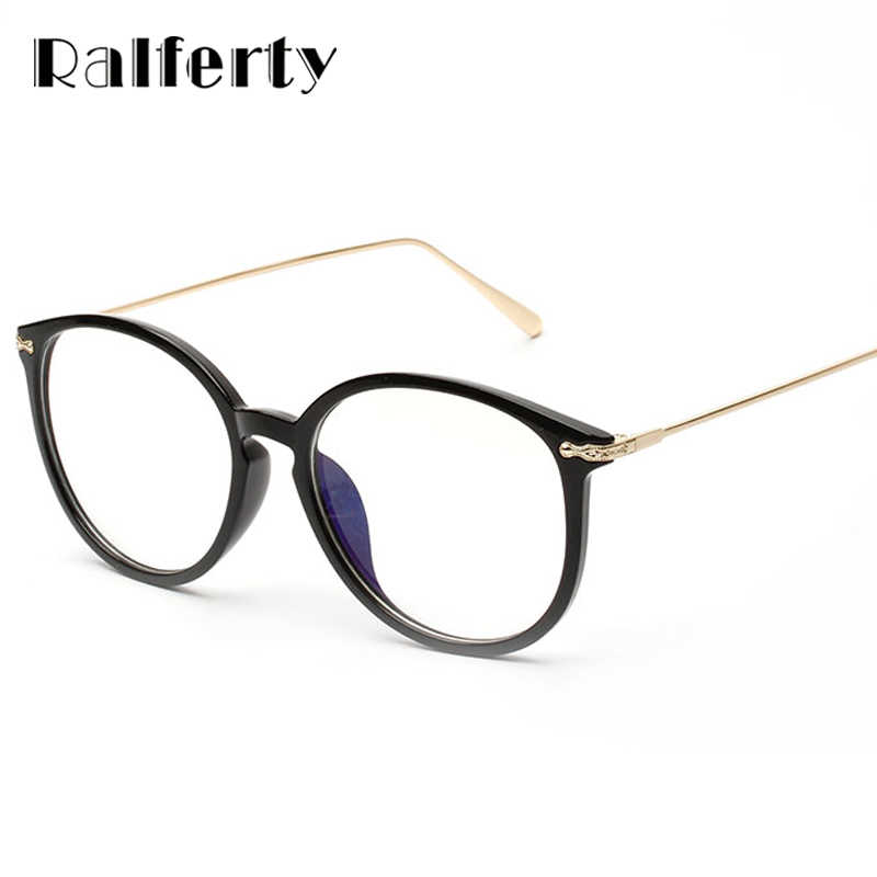 aadef212ef ... Ralferty Transparent Glasses Frame With Clear Lens Oversized Oval Eyeglasses  Women Gold Myopia Optical Frames Spectacles ...