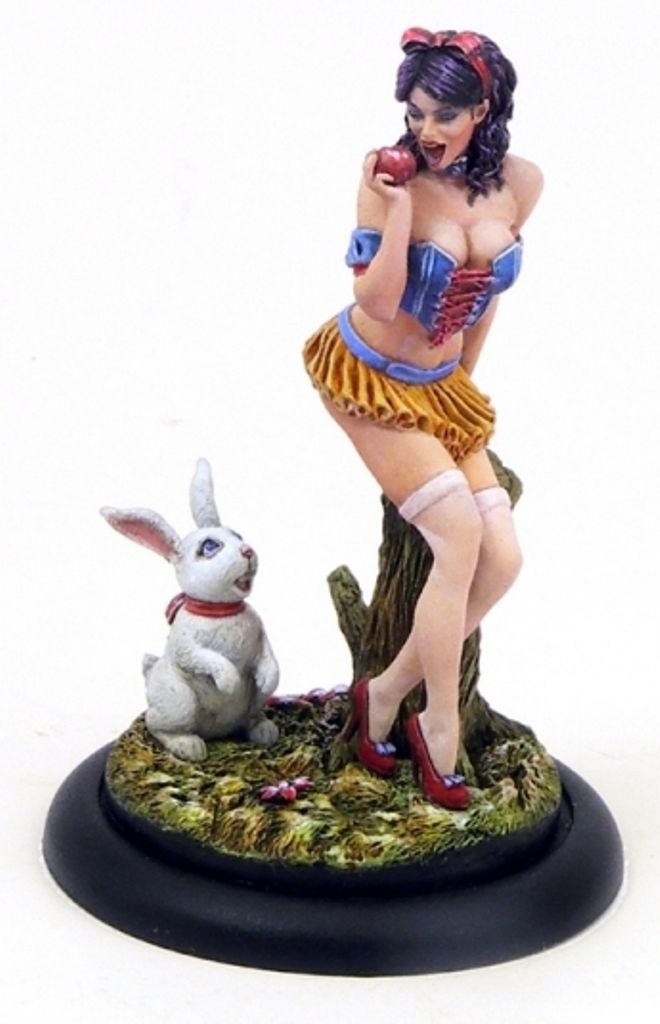 1/32 54mm  Pin Ups Big Sister And Rabbit  54mm  Historical Toy Resin Model Miniature Kit Unassembly Unpainted