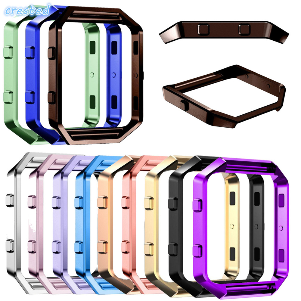 CRESTED Stainless Steel Metal Frame Case Cover Shell For Fitbit Blaze Replacement case Activity Tracker Smart Watch Accessories ec j0401 002 for acer pd116 projector lamp bulb with housing