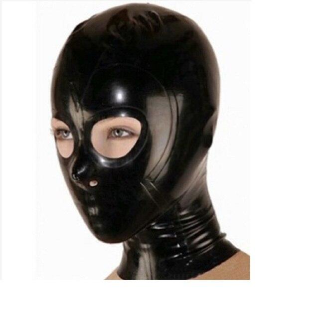 Latex kostüme hauben masken w schwarz zipper