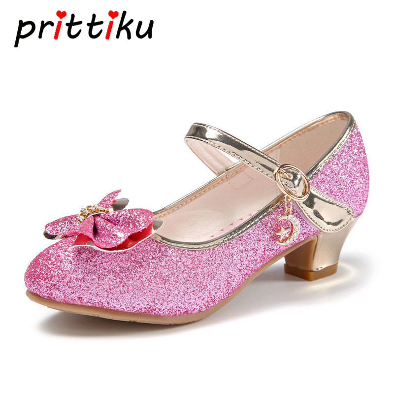 Toddler Girl Little Kid Mary Jane Wedding Bridesmaids Party Pumps Big Children Sequin Glitter Bow Low Heels Princess Dress Shoes oshkosh b gosh hava g athletic sandal toddler little kid