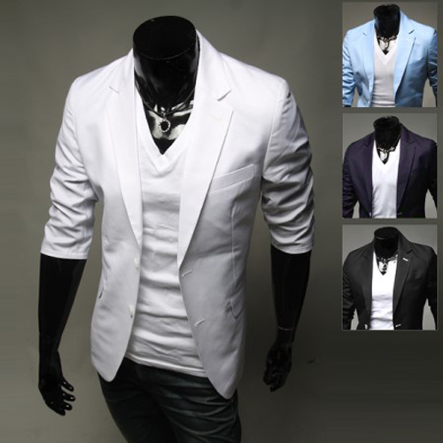 Casual Mens Suit Hooded Two Buttons Men Blazer Outdoors