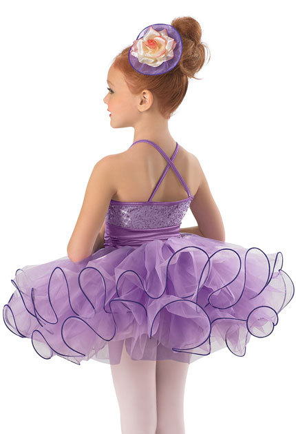 9fdcf8752 New Designs!Purple Camisole Child Ballet Tutu with Flower Cummerbund ...
