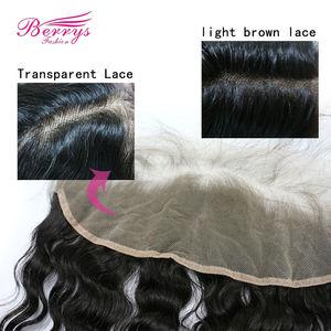 Image 3 - 13 × 4レースフロント人間の髪ルーズウェーブバージンヘア透明レース前頭漂白ノット