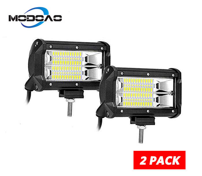 10800Lm Super Bright 72W LED Car Work Light For Off-road Jeep Trucks Pickup Jeep SUV ATV UTV Marine ,Pack of 2