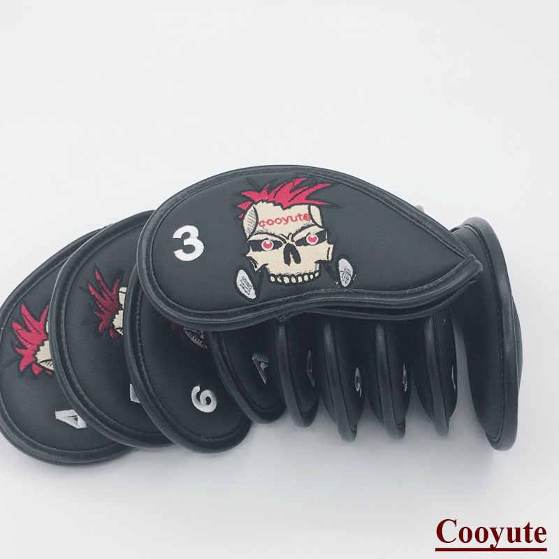 Новый чехол на голову для гольфа с черепом из искусственной кожи, чехол на голову для гольф-клуба унисекс, бесплатная доставка