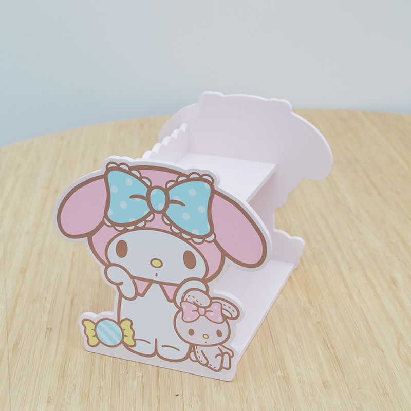 Japan Cartoon Rabbit My Melody Wooden Box Home Decoration Wood Frame DIYgirls Domestic Display Doll House Collection