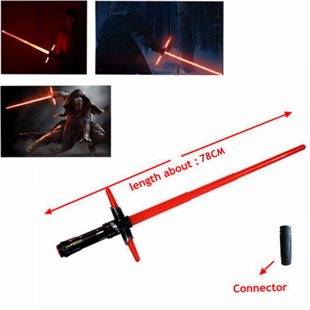 Superventas Star Wars Lightsaber 7 The Force Awakens Kylo Ren espada Juguetes LED Cosplay Darth Vader espada láser armas 101 cm