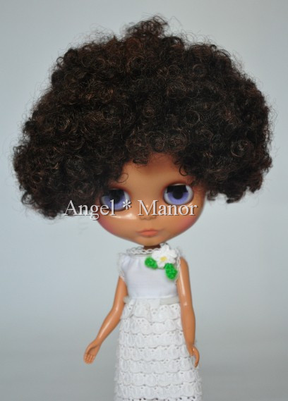 Free shipping Nude Blyth Doll, black curly short  hair, big eye doll,Fashion doll Suitable For DIY Change BJD , For Girl's Gift blyth nude doll for series no 230bl117bangs joint body black hair suitable for diy change bjd toy for girls