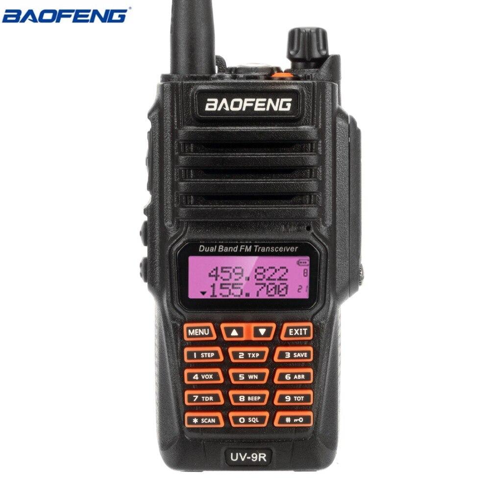 Baofeng UV-9R IP67 5 w Étanche Talkie Walkie 10 km Amateur Radio Double Bande UV9R Portable Deux Voies CB Radio communicateur
