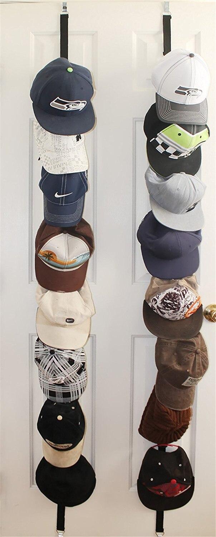 Cap Rack Baseball Cap Hat Holder Rack Organizer Storage Door Closet Hanger H9P5