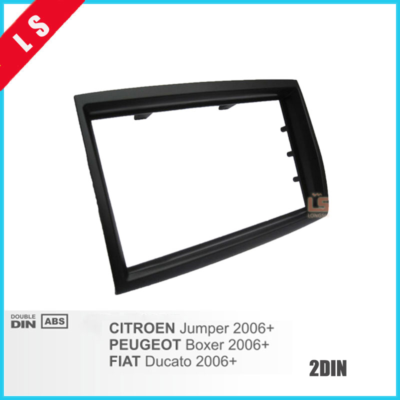 2 Din Car Fascia For 2006 CITROEN Jumper For PEUGEOT Boxer FIAT Ducato Radio CD DVD