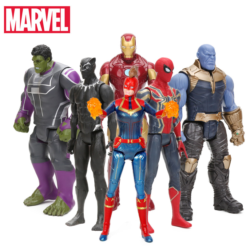 2019 29cm Marvel Captain the Avengers 4 Toys INFINITY WAR Thanos Action Figures TITAN HERO SERIES Figure Collectible Model Toy(China)