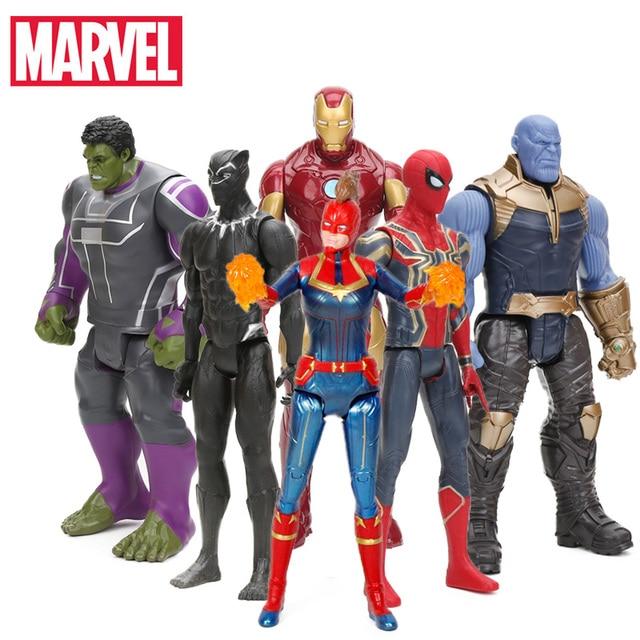 2019 centímetros 29 4 Capitão Marvel the Avengers Brinquedos INFINITO GUERRA Figuras de Ação TITAN SÉRIE HERÓI Thanos Figura Collectible Modelo brinquedo