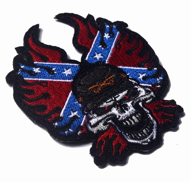 embroidered skull head fire rock metal patches Tactical hook morale custom patches biker outdoor for acket  sc 1 st  AliExpress.com & embroidered skull head fire rock metal patches Tactical hook morale ...