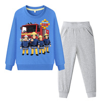 Boys Girls 2019 Spring Outdoor Clothing Set Children Long Sleeve Sweatshirt Costume Sets Kids Tracksuit Baby Fireman Sam DY004