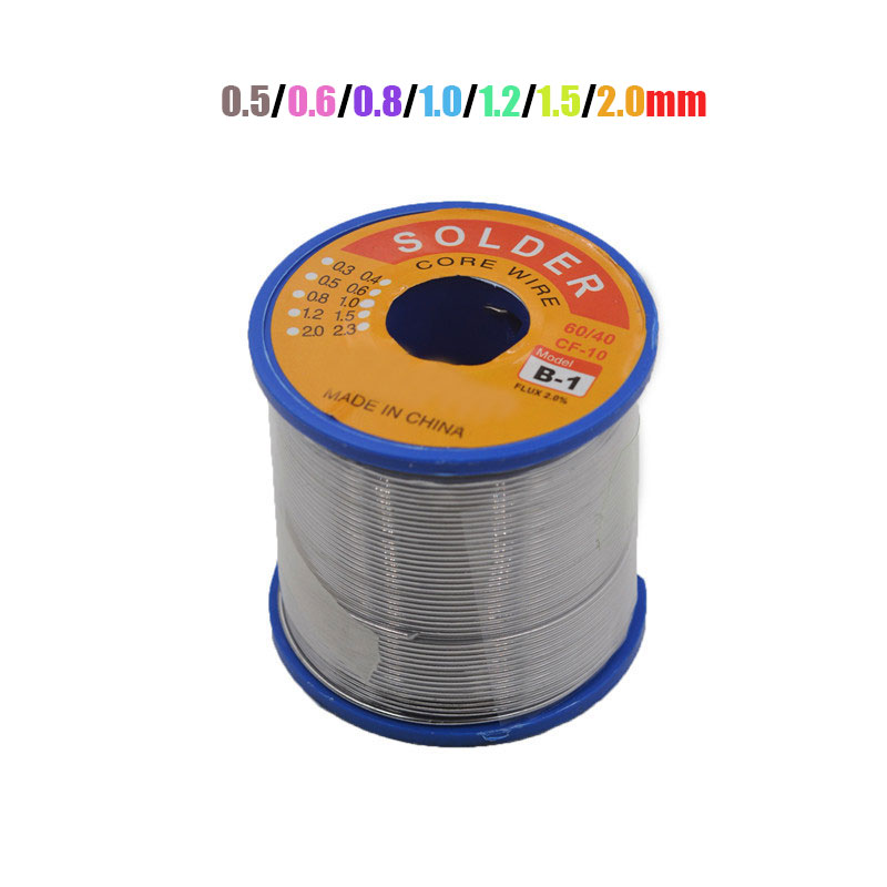 JimBon 0.5/0.6/0.8/1.0/1.2/1.5/2.0mm 500g Soldering Wires Welding Iron Rosin Core 60/40 Lead Tin Flux 2.0 Percent Solder Tools