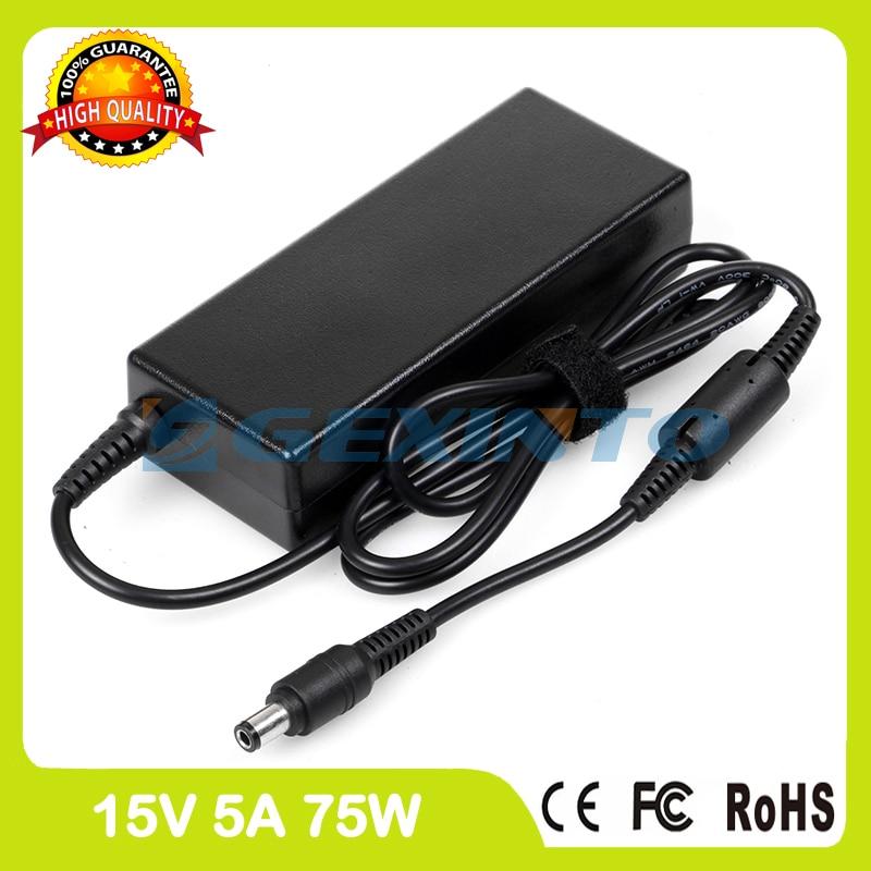 15 v 5a adaptador ac do laptop carregador paaca008 para toshiba satellite m40-s4111td m40-s4172td m45-s2691 m45-s3591 m50-105 m50-215
