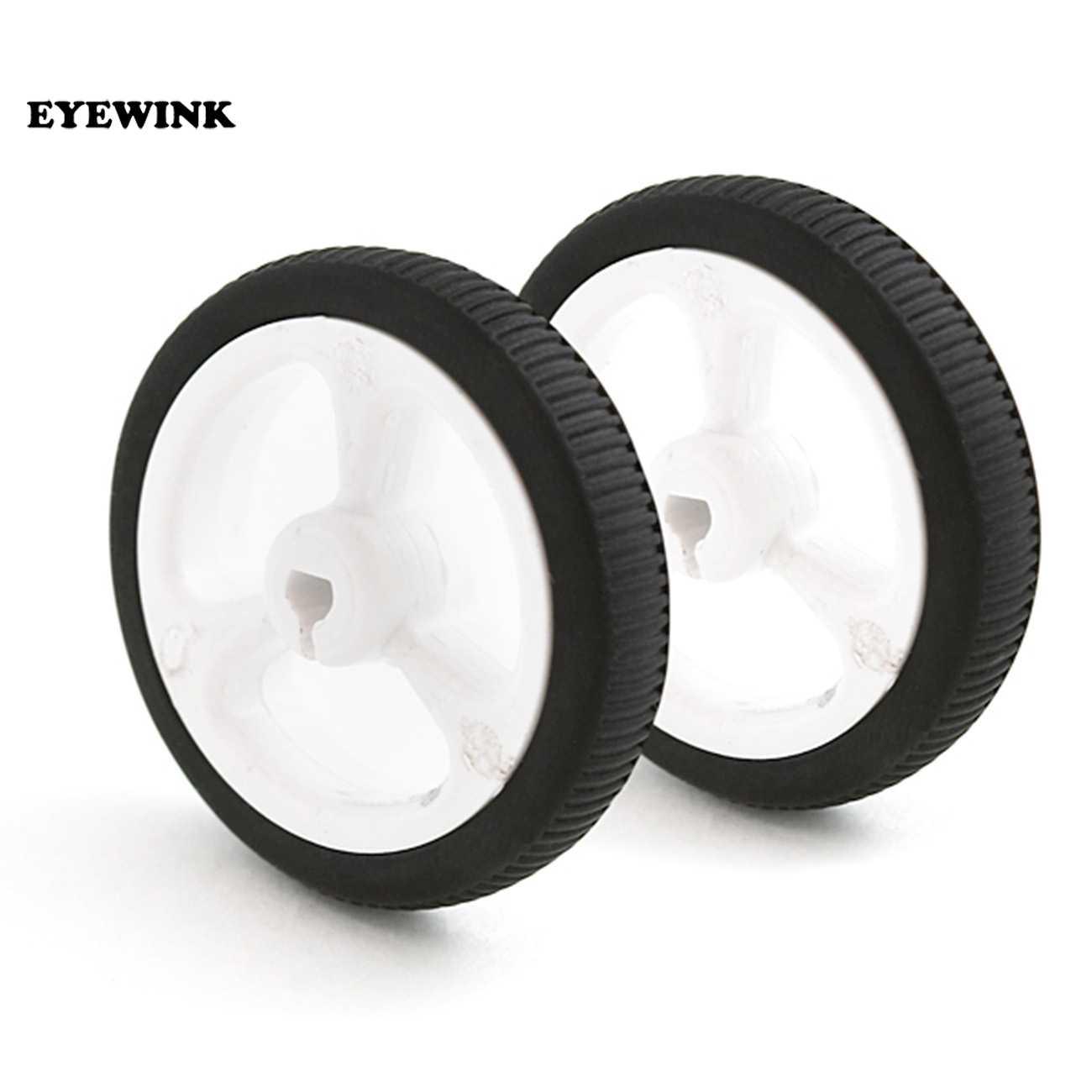 EYEWINK D-gat Rubber Wiel Geschikt voor N20 Motor D As Band Auto Robot DIY Speelgoed Onderdelen