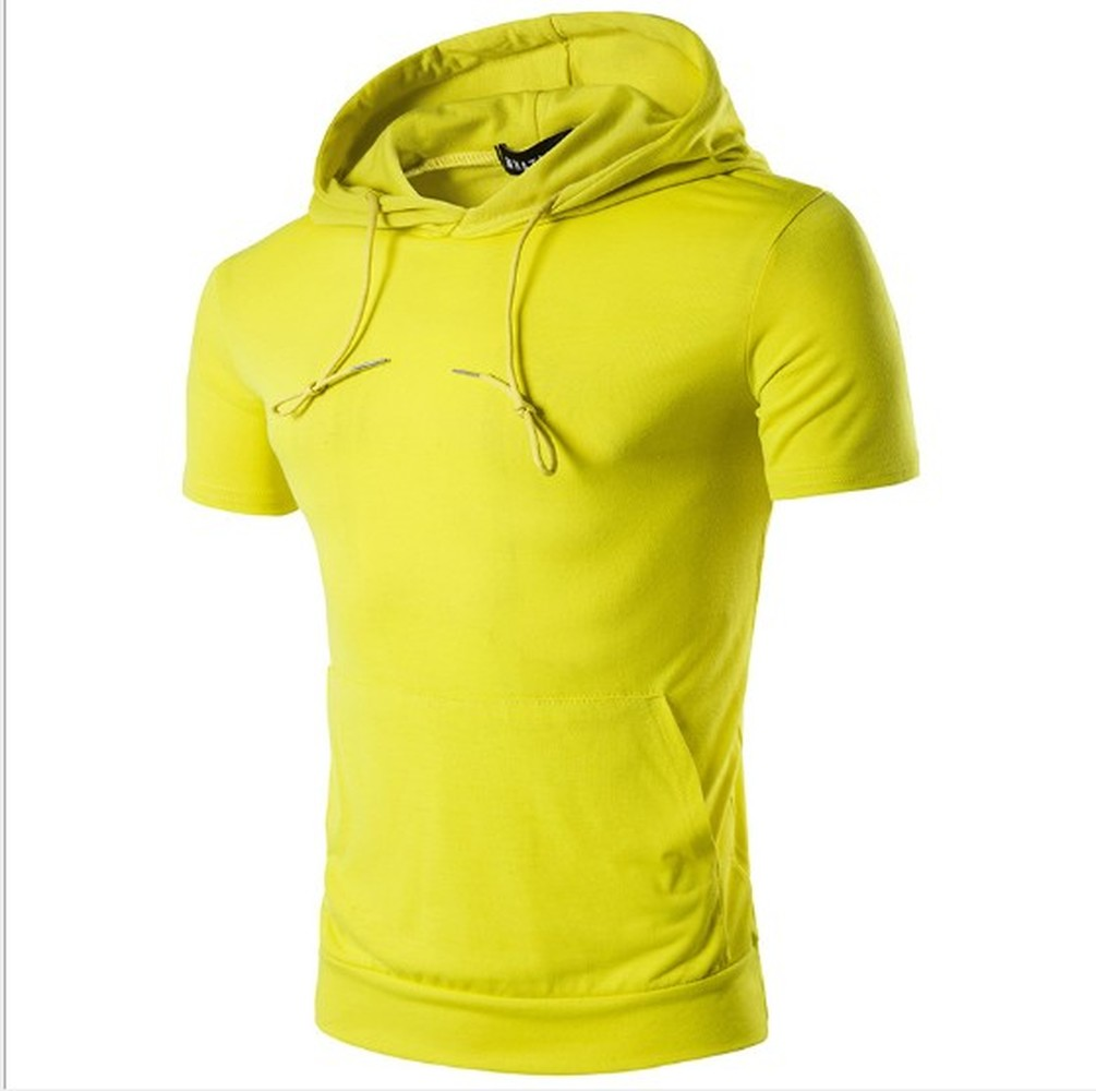 ZOGAA 2019 Men Summer Sleeveless Solid Hoodies Casual Solid Simple Hooded Sweatshirts Bodybuilding Sportswear 8 Colors