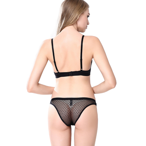 Image 2 - Victorias Masquerade Womens Sexy Transparent Bra Set Full Mesh Cup See Through Lingerie Seamless Lace Bra Panty Set