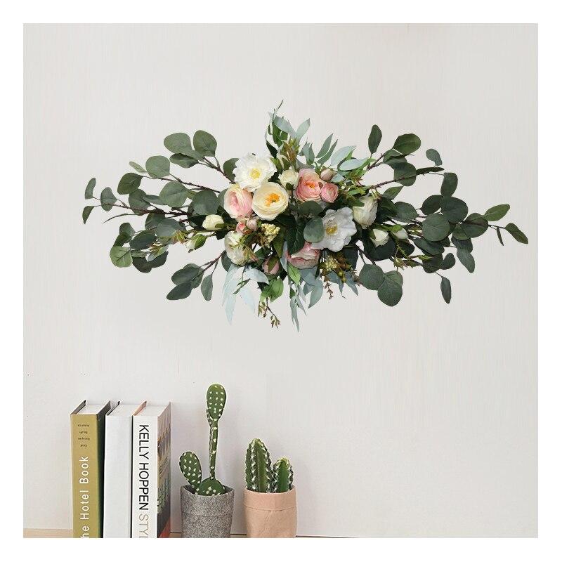 Floral fleur artificielle ensemble fleur artificielle fleur artificielle porte décoration arrière-plan coin fleur mariage arrangement batteuse - 5