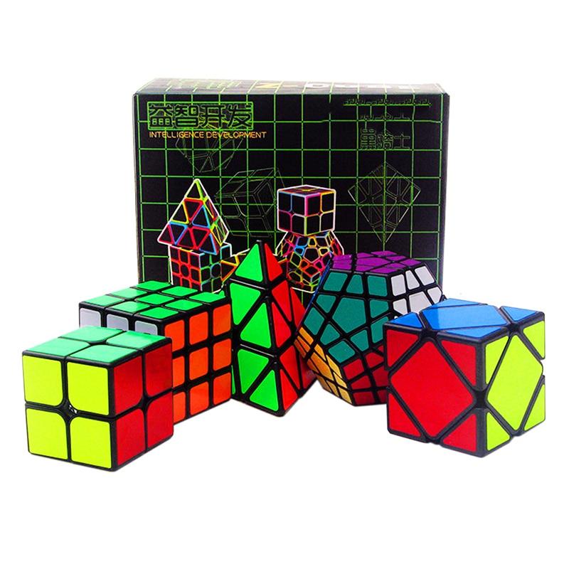 5 pièces/ensemble noir 2*2*2 3*3*3 Triangle Dodecahedron magique Cube lisse vitesse Puzzles enfants jouets cadeau (S8