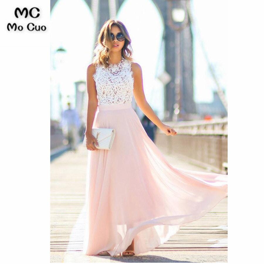 2018 Blush Pink   Bridesmaid     Dresses   Long with Appliques Wedding Party   Dress   Tank Zipper Chiffon Women   Bridesmaid     Dress