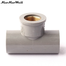 g copper female thread tee 32mm pvc pipe connectors thicken corrosion resistance drinking water pipe irrigation tee tools