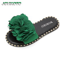 JGVIKOTO Kids Shoes For Big Girls Children s Beach Slippers Sweet Floral  Flower Slides Soft For Teenagers cbc3cf76b1eb