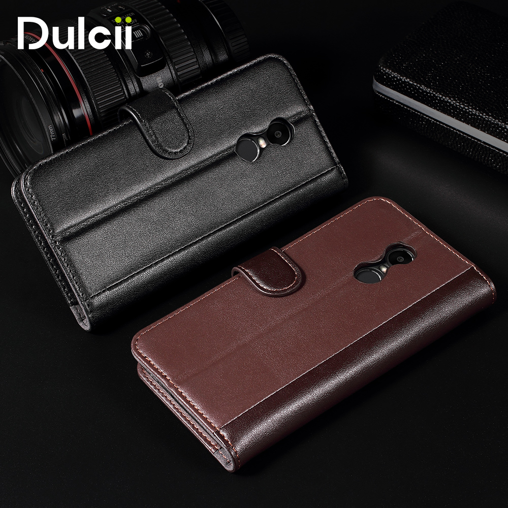Phone Case For Xiaomi Redmi Note 4X Genuine Wallet Split Leather Stand Cell Phone Case For