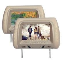 "1 adet üst kalite 7 inç Araba kafalık monitör ekran 7 "" LCD monitör ekran Araba Yastık monitör otomobil ses styling"