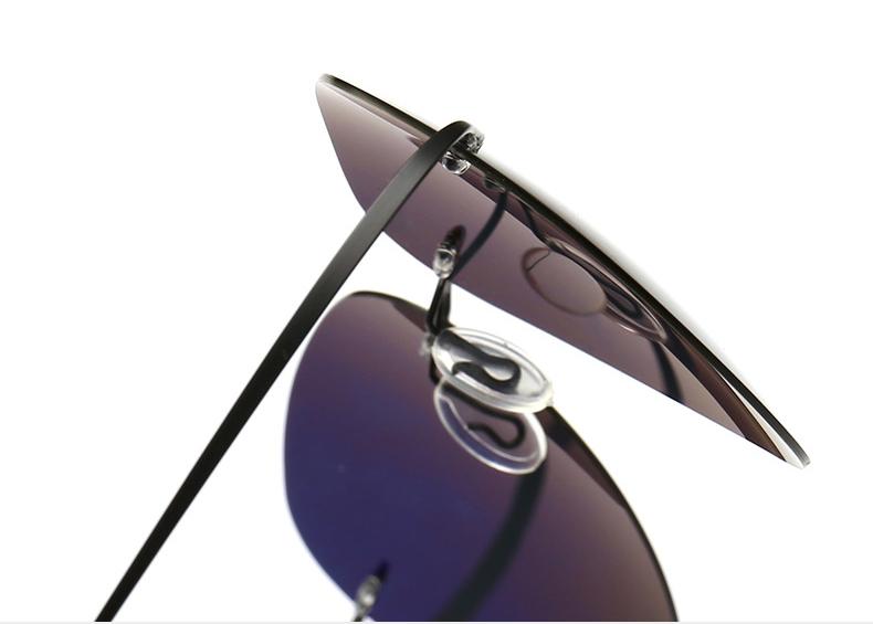 € 6 88 40% de DESCUENTO|Aliexpress com: Comprar HBK 2019 ultraligero De  titanio puro polarizado gafas De Sol con montura De conducción De gafas De