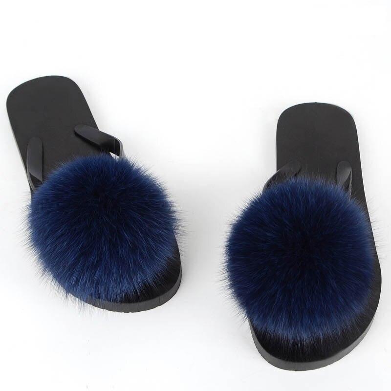 women slippers fox fur pompom (33)