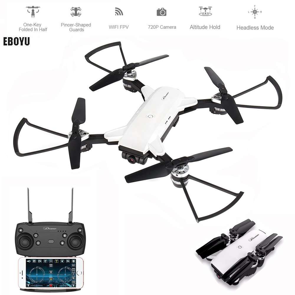 EBOYU(TM) YH-19HW 2.4Ghz 2.0MP Wide Angle Wifi FPV RC Drone Selfie Drone Foldable RC Quadcopter Altitude Hold 3D Flips Roll RTFEBOYU(TM) YH-19HW 2.4Ghz 2.0MP Wide Angle Wifi FPV RC Drone Selfie Drone Foldable RC Quadcopter Altitude Hold 3D Flips Roll RTF